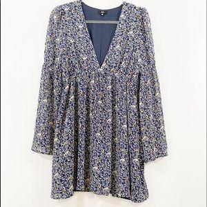 Lucca women's Floral print long sleeve dress